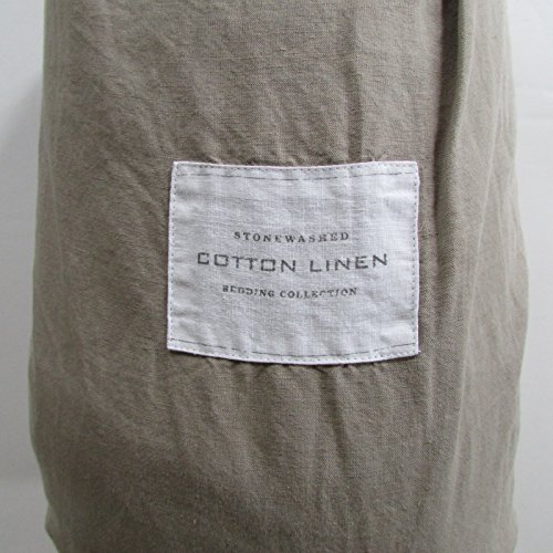 Restoration Hardware STONEWASHED COTTON LINEN Sheet Set (Prairie Fitted Sheet)