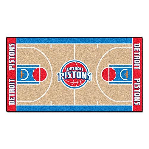 FANMATS NBA Detroit Pistons Nylon Face NBA Court Runner-Small ()
