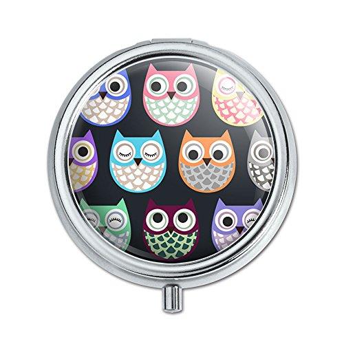 Colorful Owls Cute Pattern Trinket