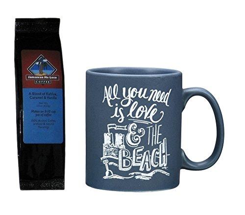 All You Need is Love and the Beach Mug and Jamaican Me Loco Coffee Bundle Gift Set (2 Items)