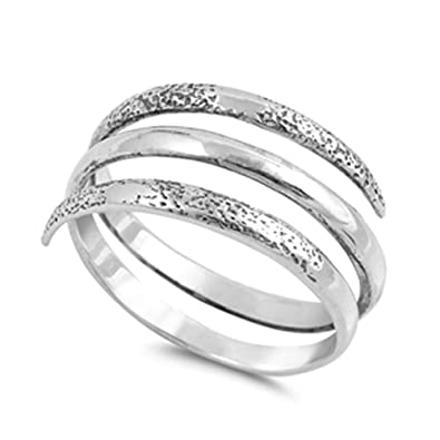 Amazoncom Open Spiral Thumb Unique Ring New 925 Sterling Silver