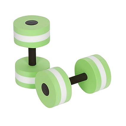 Sel-More Mancuernas flotantes de Espuma EVA para Fitness, 2 Unidades, Color Verde
