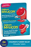 Mylicon Children's Antacid, Tummy Relief Tablets for Kids, Cherry, 24 Count