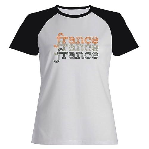 Idakoos France repeat retro - Paesi - Maglietta Raglan Donna