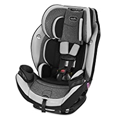 The Evenflo EveryStage DLX All-In-One Car Seat is the perfect multipurpose children's car seat. The EveryStage DLX is a rear-facing harness, forward-facing harness, and belt-positioning booster that provides a safe and secure ride for childre...