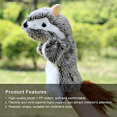 lEIsr00y Lovely Mouse Animal Doll Plush Sleeve Hand Puppet Storytelling Toy Kids Gift - Brown: Kitchen & Dining