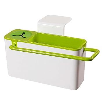 Sink Caddy,Sponge Scrubber Brush Holder Drainer,Plastic Storage Dry Rack  Basket,Suction