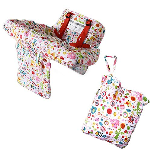 Melo-bell 2-in-1 Baby Shopping Cart Cover High Chair Cover for Baby Machine Washable Baby Shopping Cart Cushion Dining Chair Cushion Protective Travel Portable Mat