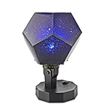 DIY Romantic Star Projector light, ONEVER LED Sky Projection Lamp Rotating Science Projector Night Lamp with 12 Constellation for Children Adults Bedroom Special Gift for Children and Women