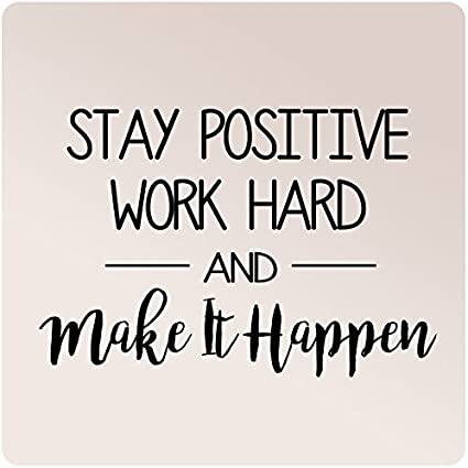 Work Hard and Make it Happen with Arrows Vinyl Wall Decal Stay Positive