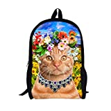Creative Design for you,Our polyester backpacks are fashionable and cool. The print pattern are funny and personalized making you stand out.Specially equiped with laptop linings, provide fully protection for your laptop or tablet while on the move. Y...