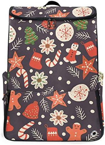 リュック メンズ レディース リュックサック 3way バックパック 大容量 ビジネス 多機能 クリスマス クッキー スクエアリュック シューズポケット 防水 スポーツ 上下2層式 アウトドア旅行 耐衝撃