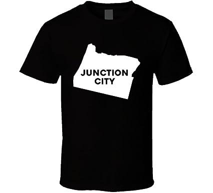 Amazon.com: Junction City Oregon City Map USA Pride T Shirt: Clothing