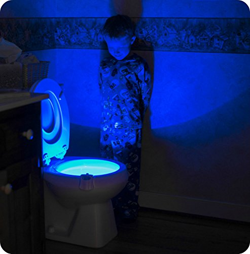 RainBowl Motion Sensor Toilet Night Light - Funny & Unique Birthday Gift Idea for Dad, Mom, Him, Her, Men, Women & Kids - Cool New Fun Gadget, Best Gag Father's Day Present