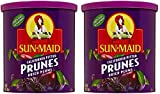 Sun Maid Dried Pitted Prunes - Pack of 2 16 oz Cans of Dried Prunes (Dried Plums) - Delicious, Plump and Juicy and GREAT VALUE!