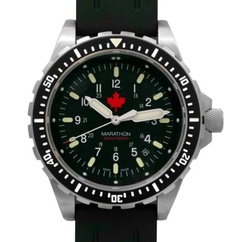 MARATHON WW194018MPL Swiss Made Military Issue Jumbo Diver's Maple Leaf JSAR Watch with MaraGlo