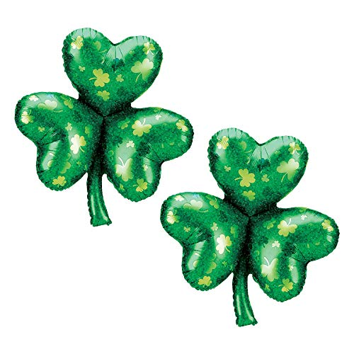 Set of 2 Green Shamrock Jumbo 33