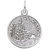 Rembrandt Charms Colorado Charm, 14K White Gold