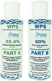 AllOne Wellness | WPS Water Purification Solution Drops CDS Citric Acid Activator 2 Part KIT 4.25 oz Great for
