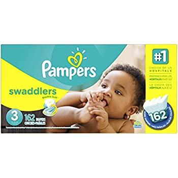 Pampers Swaddlers Diapers Size 3, 162 Count