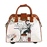 Nicole Lee Cheri Rolling Business Tote, Coffee, One Size