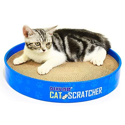 Cat Bed or Sofa hyx CP-051 Disc-Shaped Corrugated Paper Cat Scratch Board Cat Litter Claw Toy