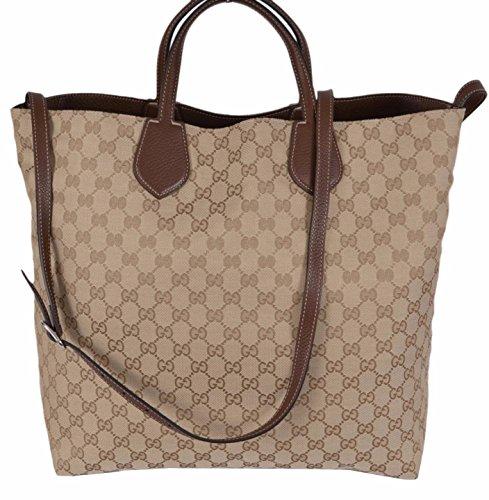 Gucci-Beige-Sand-Canvas-Leather-GG-Guccissima-Reversible-Ramble-Purse-Tote