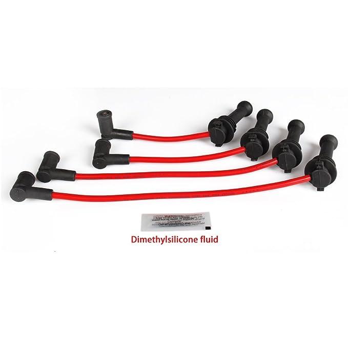 big-autoparts Bujía Juego De Cables De Encendido para Ford 11 - 14 Ford Fiesta 1.6L L4 rojo: Amazon.es: Coche y moto