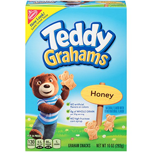 Teddy Grahams Crackers, (Honey, 10-Ounce Boxes, 6-Pack)