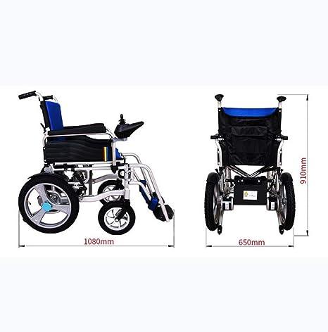 Lunzi Silla de ruedas eléctrica plegable, plegable, de alta ...