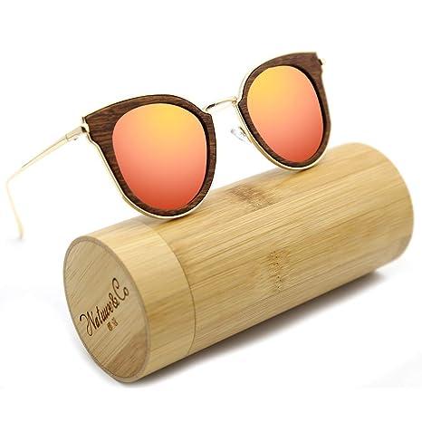 Madera de Bambú HD para Hombre Retro Anteojos de Sol Alta Calidad UV POLARIZADAS tonos 2018