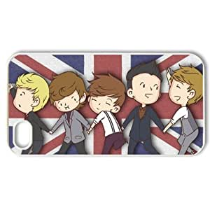 Music & Singer Series Protective Hard Case Cover for Iphone 4 & 4s - 1 Pack - One Direction - The Cartoon Figure of One Direction