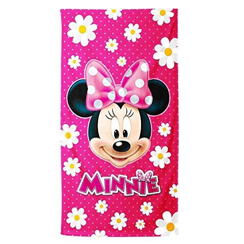 Disney Minnie Infantil Flowers Telo Mare Bambini Ragazza/o Utile per Spiaggia, Piscina, Palestra