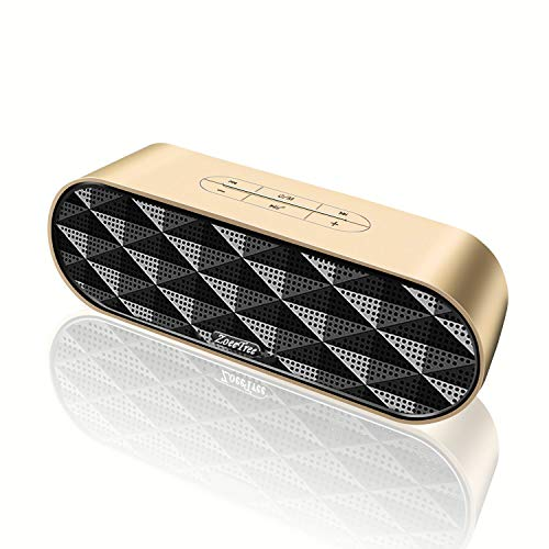 ZoeeTree S3 Wireless Bluetooth Speaker, Outdoor V4.2+EDR Speakers with Aluminium Unibody Housing, Loud HD Sound and Enhanced Bass, 10W Dual Drivers Portable Stereo Speaker, Built-in Mic, TF Card Slot by ZoeeTree