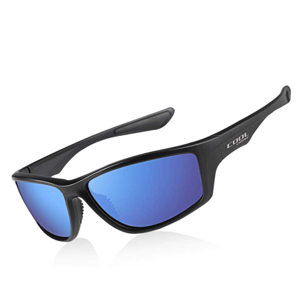 Cool Change Polarized Sports Sunglasses TR90 Lightweight Frame|UV400 Protection|Ergonomic Fit Sport Glasses for Men Women by Cool Change
