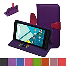 Blu Studio 6.0 HD Case,Mama Mouth [Stand View] Folio Flip Premium PU Leather [Wallet Case] With Built-in Media Stand ID Credit Card / Cash Slots and Inner Pocket Cover Case For Blu Studio 6.0 HD D650a, Purple