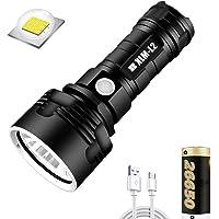 USB oplaadbare zaklamp, 30000-100000 lumen krachtige led waterdichte zaklamp Lamp Ultra heldere, draagbare en oplaadbare…