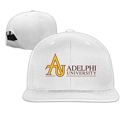 M Angel Adjustable Funny Adelphi University Flat Sun Hats Baseball Cap One Size White