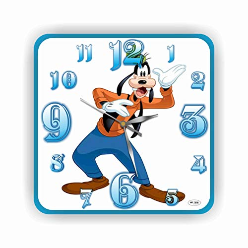 Art time production Goofy 11'' Handmade Wall Clock - Get Unique décor for Home or Office - Best Gift Ideas for Kids, Friends, Parents and Your Soul Mates