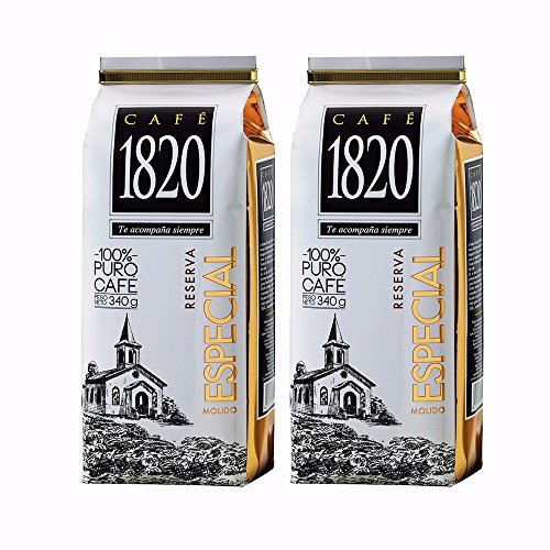 Coffee Costa Ground Rican (Cafe 1820 Reserva Especial - Costa Rica Gourmet Ground Premium Coffee - 12 oz (340 gr) 2 Pack)