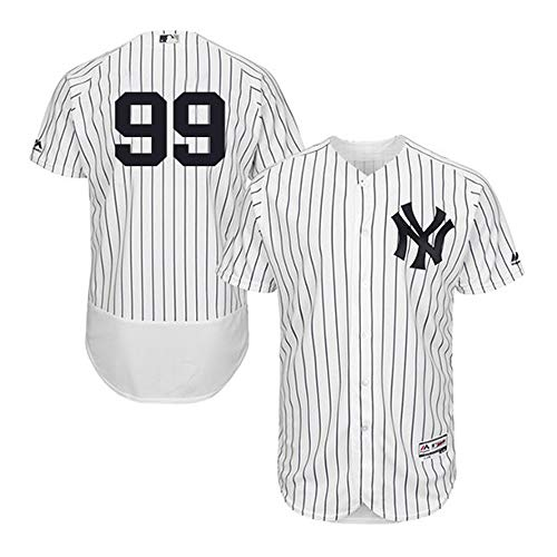 VFs Men's New York Yankees Aaron Judge #99 Flex Base Player White Home Jersey (White, M)
