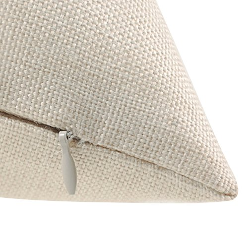 Unique Warm Decorative Pillow Covers Pink Feather& Romantic Flamingo Cotton and Linen Home Decor,18Ã\u009718 Inches Pack of 4