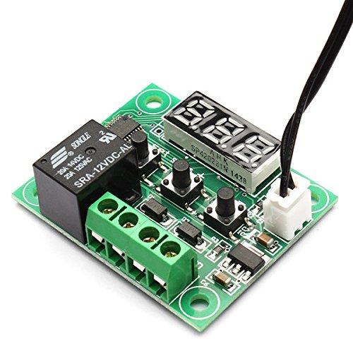 Diybigworld 10 PCS W1209 DC 12V heat cool temp thermostat temperature control switch temperature controller thermometer thermo controller