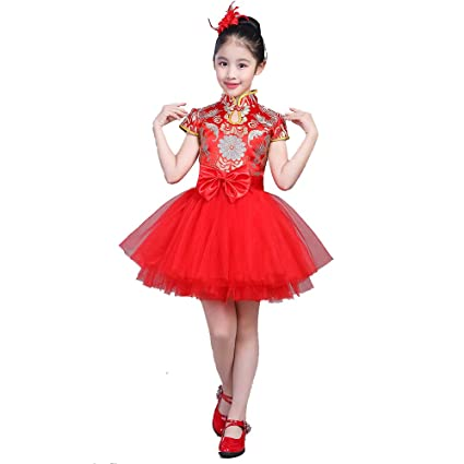 Amazon.com: YONGMEI Dance Costume - Princess Skirt Tutu Girl ...