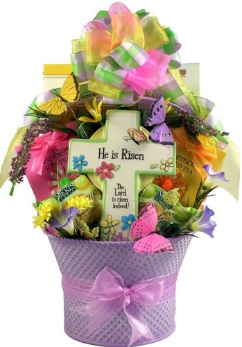 Amazon jesus lives christian easter gift basket grocery christian easter gift basket negle Image collections