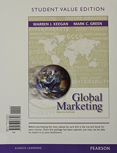 Global Marketing  Student Value Edition Plus 2014 Mymarketinglab With Pearson Etext    Access Card Package  8Th Edition