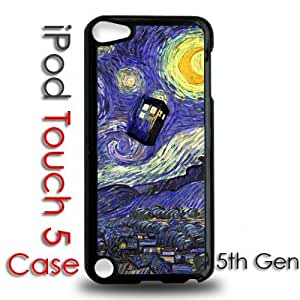 IPod 5 Touch Black Plastic Case - Dr Who Tardis Starry Night Painting
