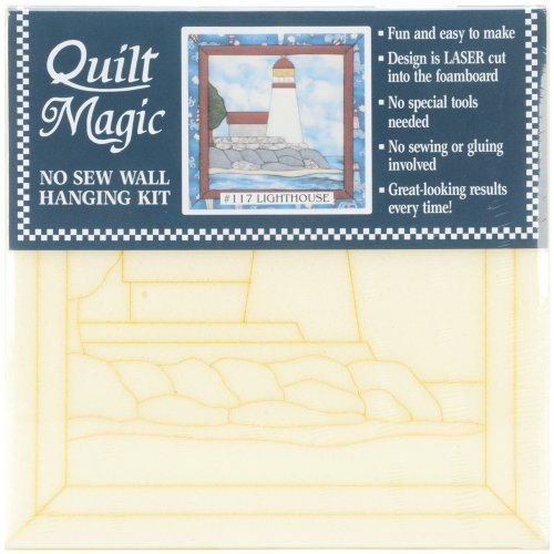 Quilt Magic 12-Inch by 12-Inch Lighthouse Kit by Quilt Magic