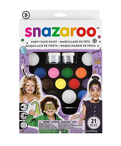 Snazaroo Face Paint Kit Ultimate Party - Remover Latex 5 Paint