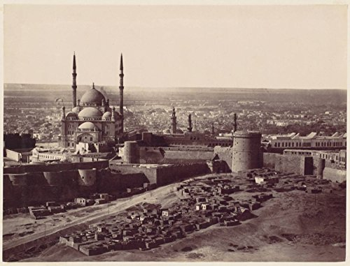 Historic Photograph | The Citadel and The Mosque of Mohammed Ali, Cairo | Vintage Wall Art Décor Poster Reproduction | 20in x 16in